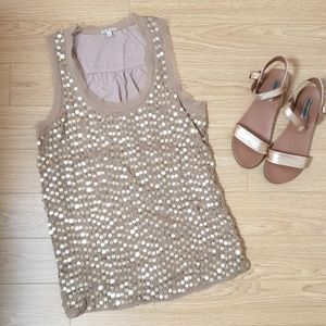 Sequin neutral top